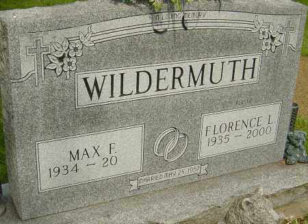 WILDERMUTH, FLORENCE L - Montgomery County, Ohio | FLORENCE L WILDERMUTH - Ohio Gravestone Photos