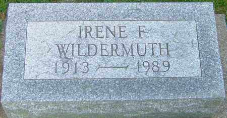 WILDERMUTH, IRENE F - Montgomery County, Ohio | IRENE F WILDERMUTH - Ohio Gravestone Photos
