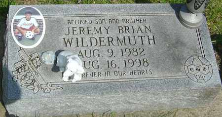 WILDERMUTH, JEREMY BRIAN - Montgomery County, Ohio | JEREMY BRIAN WILDERMUTH - Ohio Gravestone Photos
