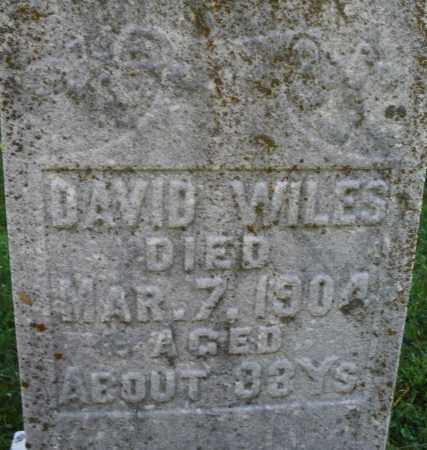 WILES, DAVID - Montgomery County, Ohio | DAVID WILES - Ohio Gravestone Photos