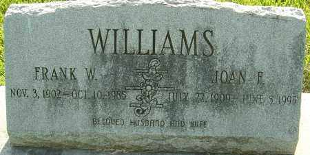 WILLIAMS, FRANK W - Montgomery County, Ohio | FRANK W WILLIAMS - Ohio Gravestone Photos
