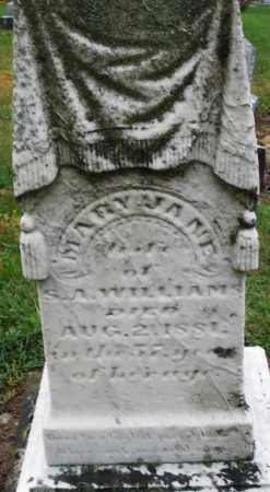 WILLIAMS, MARY JANE - Montgomery County, Ohio | MARY JANE WILLIAMS - Ohio Gravestone Photos