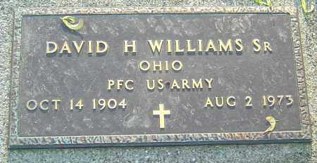 WILLIAMS SR,, DAVID H - Montgomery County, Ohio | DAVID H WILLIAMS SR, - Ohio Gravestone Photos