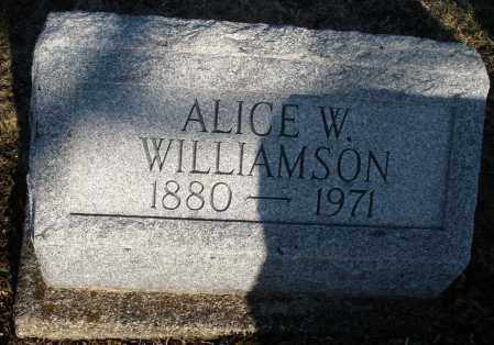 WILLIAMSON, ALICE W. - Montgomery County, Ohio | ALICE W. WILLIAMSON - Ohio Gravestone Photos
