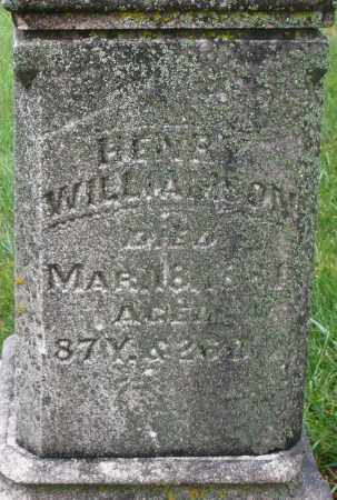 WILLIAMSON, HENRY - Montgomery County, Ohio | HENRY WILLIAMSON - Ohio Gravestone Photos