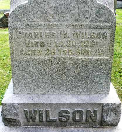 WILSON, CHARLES W. - Montgomery County, Ohio | CHARLES W. WILSON - Ohio Gravestone Photos