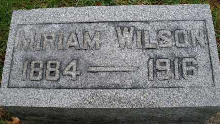 WILSON, MIRIAM - Montgomery County, Ohio | MIRIAM WILSON - Ohio Gravestone Photos