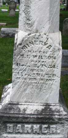 DARNER WILSON, MINERVA - Montgomery County, Ohio | MINERVA DARNER WILSON - Ohio Gravestone Photos