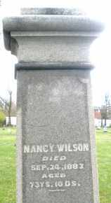 WILSON, NANCY - Montgomery County, Ohio | NANCY WILSON - Ohio Gravestone Photos
