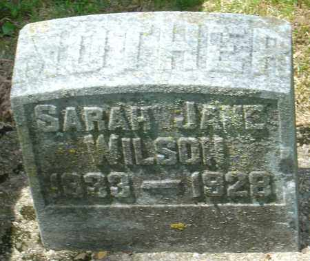 WILSON, SARRAH JANE - Montgomery County, Ohio | SARRAH JANE WILSON - Ohio Gravestone Photos