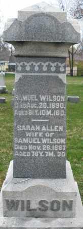 WILSON, SARAH - Montgomery County, Ohio | SARAH WILSON - Ohio Gravestone Photos