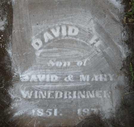WINEBRINNER, DAVID H. - Montgomery County, Ohio | DAVID H. WINEBRINNER - Ohio Gravestone Photos