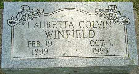COLVIN WINFIELD, LAURETTA - Montgomery County, Ohio | LAURETTA COLVIN WINFIELD - Ohio Gravestone Photos