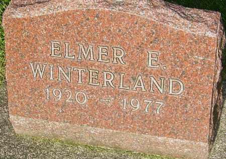 WINTERLAND, ELMER E - Montgomery County, Ohio | ELMER E WINTERLAND - Ohio Gravestone Photos