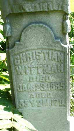 WITTMAN, CHRISTIAN - Montgomery County, Ohio | CHRISTIAN WITTMAN - Ohio Gravestone Photos