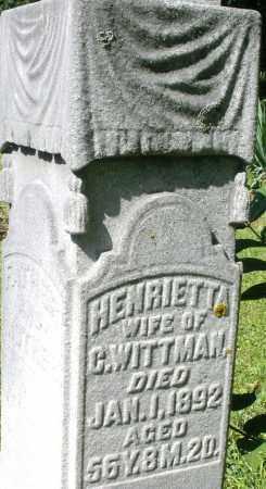 WITTMAN, HENRIETTA - Montgomery County, Ohio | HENRIETTA WITTMAN - Ohio Gravestone Photos