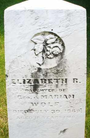 WOLF, ELIZABETH R. - Montgomery County, Ohio | ELIZABETH R. WOLF - Ohio Gravestone Photos