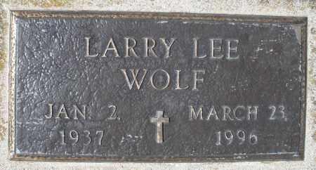 WOLF, LARRY LEE - Montgomery County, Ohio | LARRY LEE WOLF - Ohio Gravestone Photos