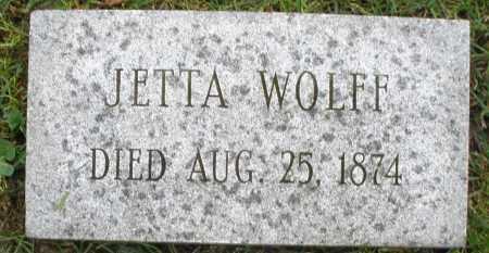 WOLFF, JETTA - Montgomery County, Ohio | JETTA WOLFF - Ohio Gravestone Photos