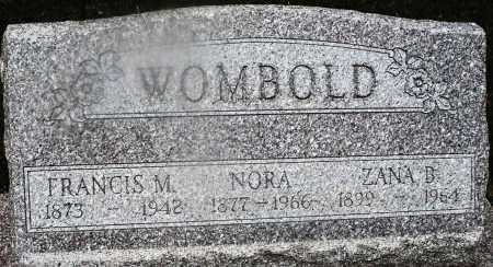 WOMBOLD, ZANA B. - Montgomery County, Ohio | ZANA B. WOMBOLD - Ohio Gravestone Photos