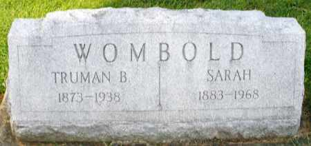 WOMBOLD, TRUMAN B. - Montgomery County, Ohio | TRUMAN B. WOMBOLD - Ohio Gravestone Photos