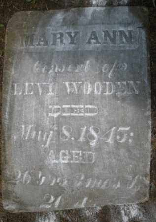 WOODEN, MARY ANN - Montgomery County, Ohio | MARY ANN WOODEN - Ohio Gravestone Photos