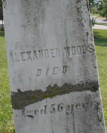 WOODS, ALEXANDER - Montgomery County, Ohio | ALEXANDER WOODS - Ohio Gravestone Photos