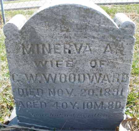 WOODWARD, MINERVA A. - Montgomery County, Ohio | MINERVA A. WOODWARD - Ohio Gravestone Photos