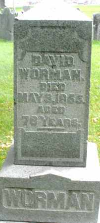 WORMAN, DAVID - Montgomery County, Ohio | DAVID WORMAN - Ohio Gravestone Photos