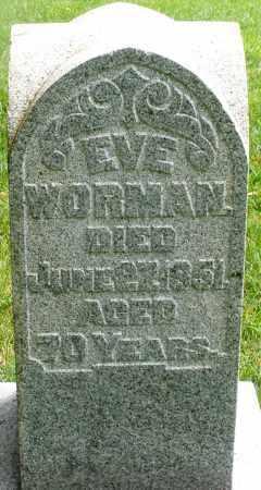 WORMAN, EVE - Montgomery County, Ohio | EVE WORMAN - Ohio Gravestone Photos