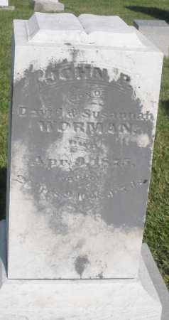 WORMAN, JOHN - Montgomery County, Ohio | JOHN WORMAN - Ohio Gravestone Photos