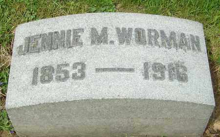 MILLER WORMAN, JENNIE - Montgomery County, Ohio | JENNIE MILLER WORMAN - Ohio Gravestone Photos