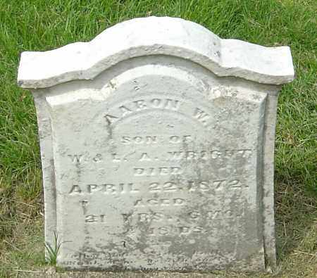 WRIGHT, AARON W - Montgomery County, Ohio | AARON W WRIGHT - Ohio Gravestone Photos