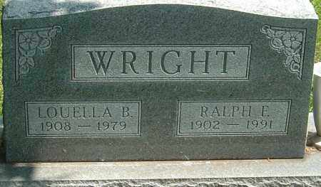 WRIGHT, RALPH FRED - Montgomery County, Ohio | RALPH FRED WRIGHT - Ohio Gravestone Photos
