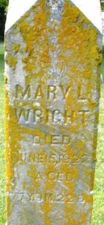 WRIGHT, MARY L. - Montgomery County, Ohio | MARY L. WRIGHT - Ohio Gravestone Photos