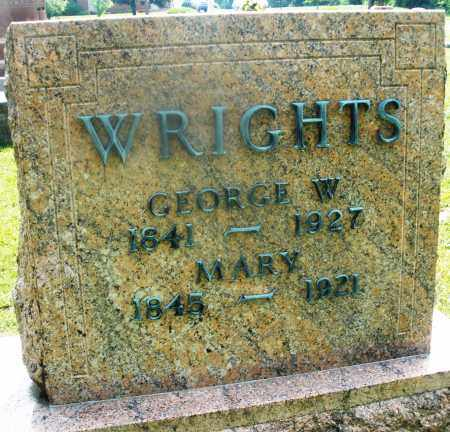 WRIGHTS, MARY - Montgomery County, Ohio | MARY WRIGHTS - Ohio Gravestone Photos