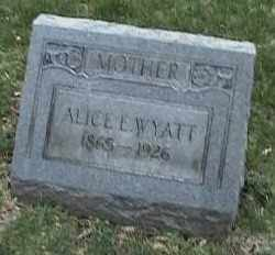 WYATT, ALICE L. - Montgomery County, Ohio | ALICE L. WYATT - Ohio Gravestone Photos
