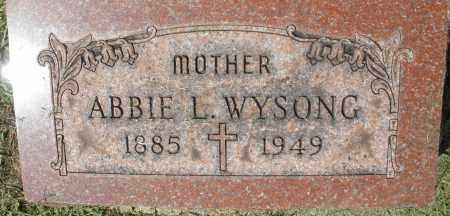 WYSONG, ABBIE L. - Montgomery County, Ohio | ABBIE L. WYSONG - Ohio Gravestone Photos