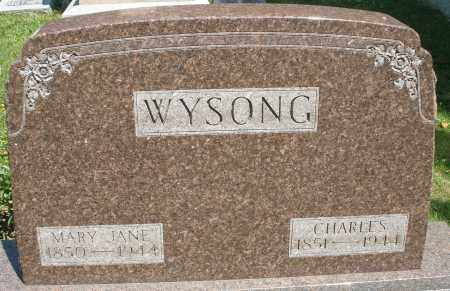 WYSONG, MARY JANE - Montgomery County, Ohio | MARY JANE WYSONG - Ohio Gravestone Photos