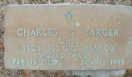 YARGER, CHARLES S. - Montgomery County, Ohio | CHARLES S. YARGER - Ohio Gravestone Photos