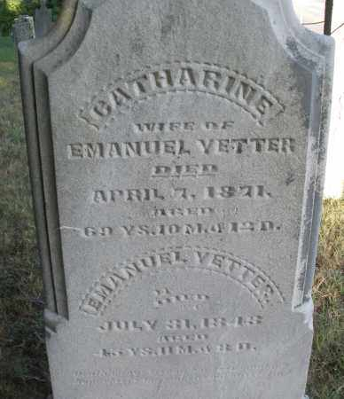 YETTER, CATHERINE - Montgomery County, Ohio | CATHERINE YETTER - Ohio Gravestone Photos