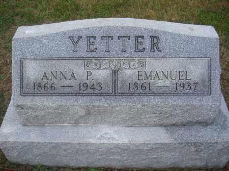 YETTER, ANNA P. - Montgomery County, Ohio | ANNA P. YETTER - Ohio Gravestone Photos