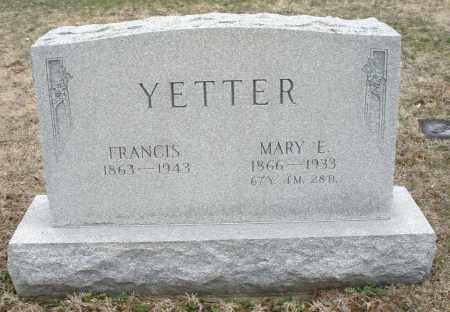 YETTER, MARY E. - Montgomery County, Ohio | MARY E. YETTER - Ohio Gravestone Photos