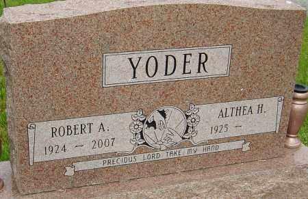 YODER, ROBERT A - Montgomery County, Ohio | ROBERT A YODER - Ohio Gravestone Photos