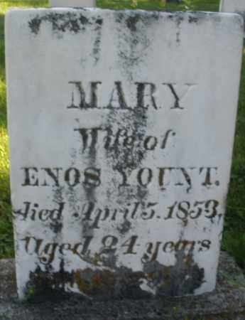 YOUNT, MARY - Montgomery County, Ohio | MARY YOUNT - Ohio Gravestone Photos