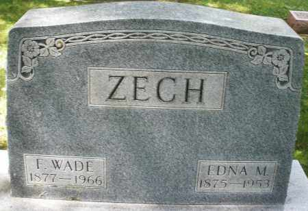 ZECH, F.WADE - Montgomery County, Ohio | F.WADE ZECH - Ohio Gravestone Photos