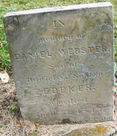 ZEDEKER, DANIEL WEBSTER - Montgomery County, Ohio | DANIEL WEBSTER ZEDEKER - Ohio Gravestone Photos