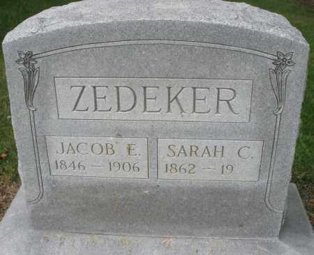 ZEDEKER, JACOB E. - Montgomery County, Ohio | JACOB E. ZEDEKER - Ohio Gravestone Photos