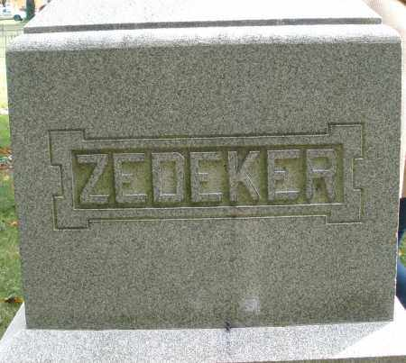 ZEDEKER, MONUMENT - Montgomery County, Ohio | MONUMENT ZEDEKER - Ohio Gravestone Photos