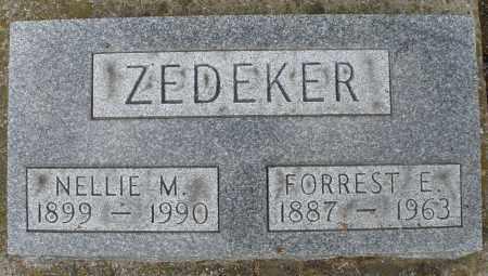 ZEDEKER, FORREST E. - Montgomery County, Ohio | FORREST E. ZEDEKER - Ohio Gravestone Photos